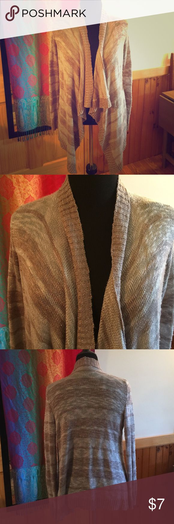 NYE party cardigan! Purple, grey, silver cardigan Gently loved; run in the right sleeve see photos Sweaters Cardigans