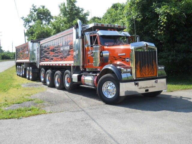 Harley Davidson Kenworth dump truck