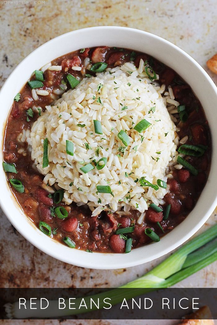 Red Beans and Rice via @Sheena Birt Tatum (Sophistishe.com)