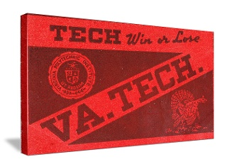Virginia Tech football gifts! The best football gifts are at http://www.shop.47straightposters.com/Vintage-Virginia-Tech-canvas-art-Vtg-VA-TECH.htm