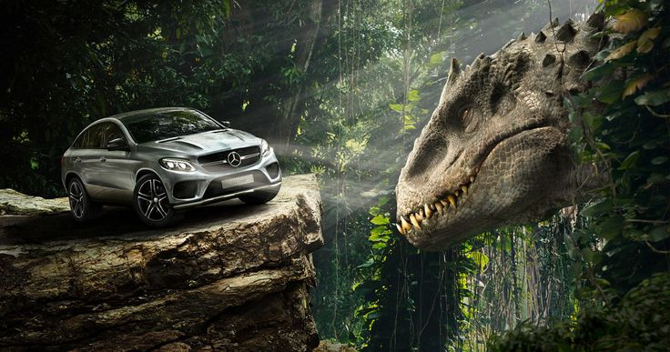 'Jurassic World' TV Spots: Indominus Rex Vs. Mercedes-Benz! -- A new 'Jurassic World' commercial shows the new Mercedes-Benz GLE 450 AMG Coupe in action, along with a photo of Indominous Rex. -- http://movieweb.com/jurassic-world-tv-spots-mercedes-benz-indominous-rex/