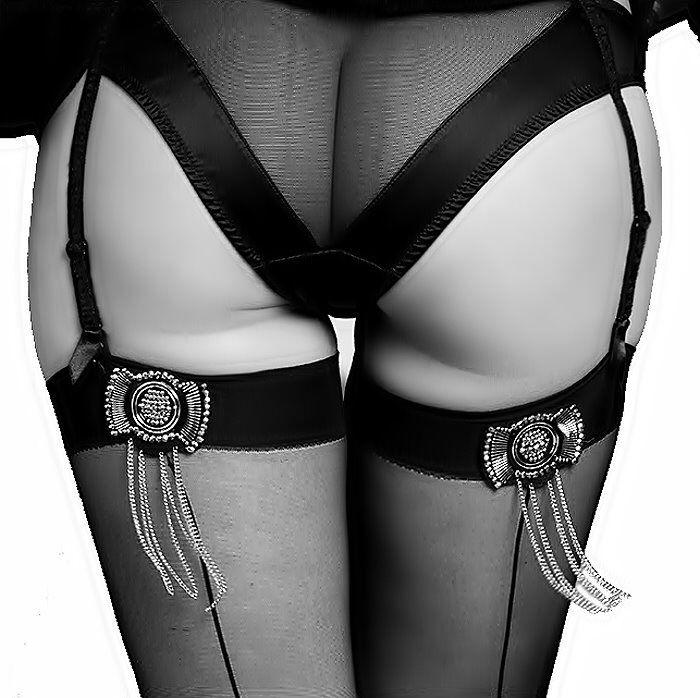 Black Stockings Garter Belt