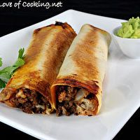 Beef, Bean, and Pepper Jack Baked Flautas by Maria Guerra