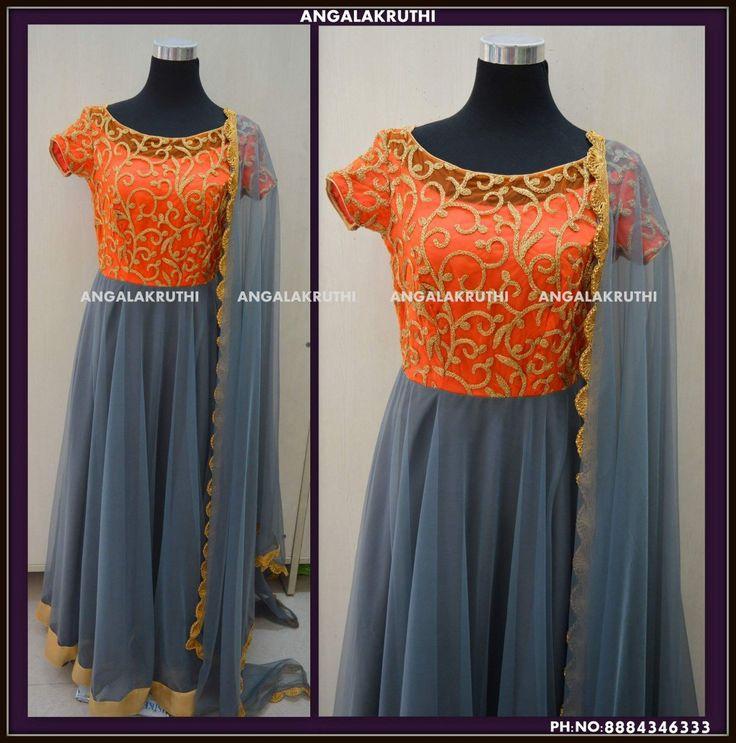 Custom designer Anarkali by Angalakruthi boutique Bangalore Watsapp:8884346333