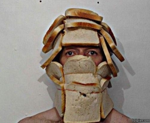 これはすごい!this bread helmet invalidates your argument.