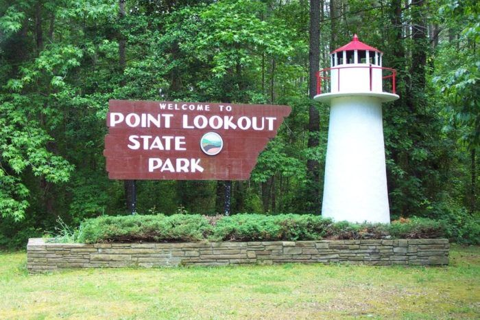 Point Lookout State Park is a Maryland State Park in southern Maryland that's known for beautiful views, a charming beach, great camping and a haunted history.