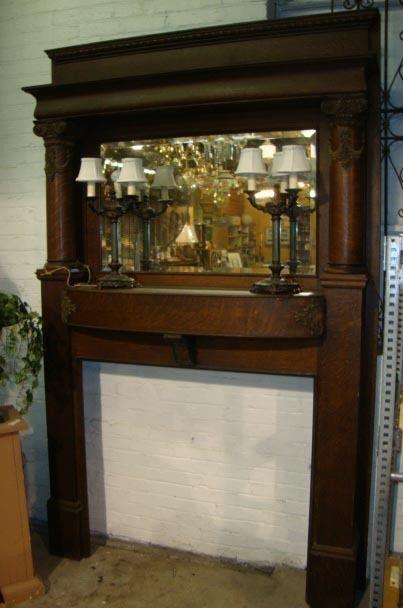 Old oak mantel