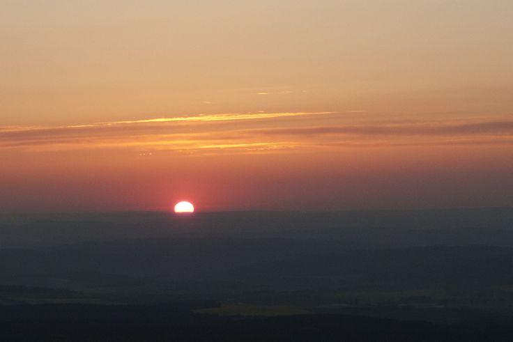 Východ slunce z koše balonu