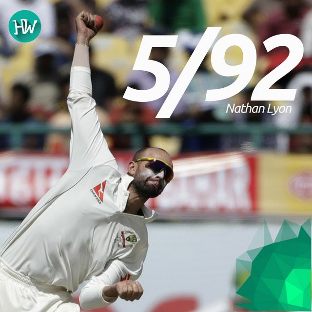 Nathan Lyon picked up his 9th 5-wicket haul to take out the Indian batsmen. He did some fantastic bowling! #INDvAUS #IND #AUS #cricket
