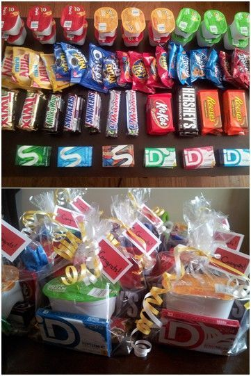 Snack packs for employees of the month or employee work appreciation teacher gifts
