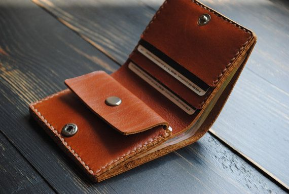 Mens wallet with coin pocket Minimal wallet от 9FloorStudio