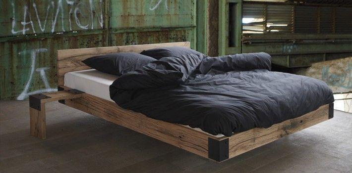 Zwevend Bed Oud Eiken Staal Gussta Relaxing Living