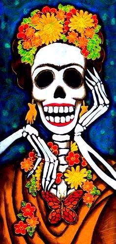 Catrina frida diego rivera frida kahlo pinterest for Diego rivera day of the dead mural