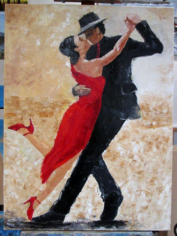 Pintura a óleo realizada pela Olga Branco