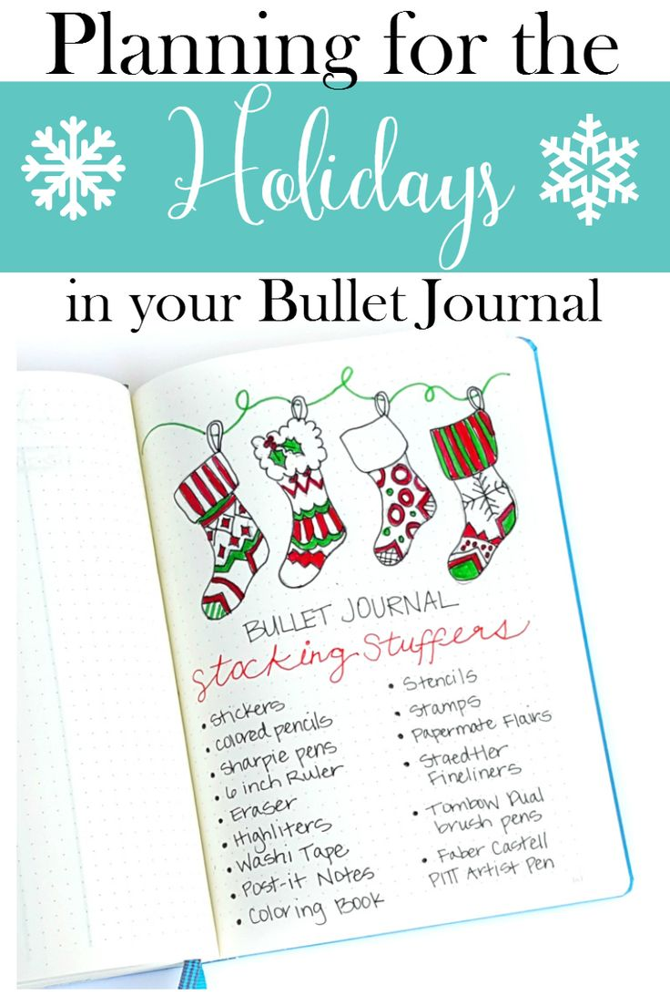 Ideas to plan for the holidays in your bullet journal, including Thanksgiving and Christmas! http://sweetteaandsavinggraceblog.com/planning-holidays-bullet-journal/?utm_campaign=coschedule&utm_source=pinterest&utm_medium=Sweet%20Tea%2C%20LLC&utm_content=Planning%20for%20the%20Holidays%20in%20your%20Bullet%20Journal