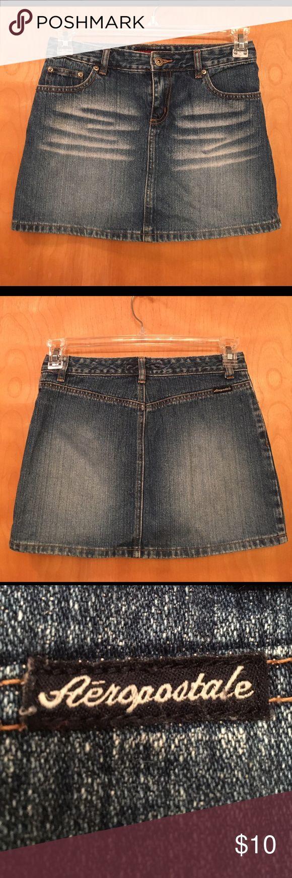 AEROPOSTALE BLUE JEAN MINI SKIRT 🌺....ADORABLE.....AEROPOSTALE MINI JEAN SKIRT.  100% cotton.  Factory Aeropostale Skirts