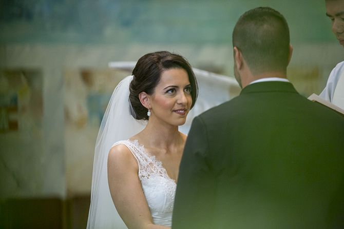 The vows. A moment where you stop noticing everyone else in the room and it feels like only the two of you #markjayphotography #sydneyweddingphotographer #weddingphotography #bride #groom #vows
