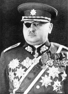 Аrmy General Jan Syrový (January 24, 1888 - October 17, 1970) was a Czechoslovak national hero, a veteran of the Czechoslovak Legion and a prominent four-star general of the Czechoslovak Army in the interwar period. On September 22, 1938 he was appointed Prime Minister and Minister of National Defence by president Edvard Beneš following the resignation of the government lead by Milan Hodža, and held both posts until the German conquest of Czechoslovakia on March 15, 1939.