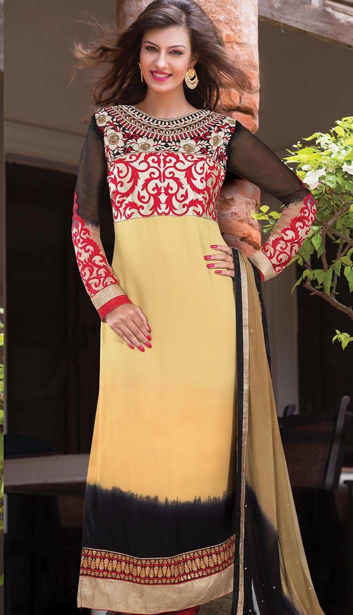 Get Bollywood Latest Peach Georgette #PartyWearDresses Product code: KPW-38597 Price: INR3643 (Unstitch Suit), Color: Peach Shop Online now: www.efello.co/Salwar-Kameez_Bollywood-Latest-Peach-Georgette-Party-Wear-Dresses,-Dress_36848
