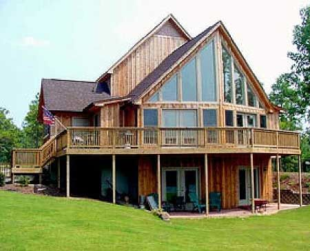 11 best lake house images on pinterest residential for Mountain vacation house plans