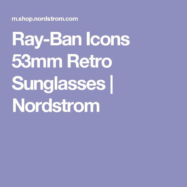Ray-Ban Icons 53mm Retro Sunglasses   Nordstrom