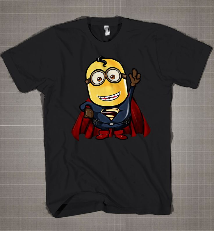 Man Of Steel MINION Parody  Mens and Women T-Shirt Available Color Black And White