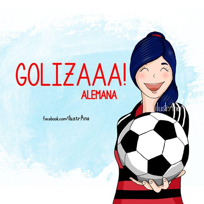 goliza alemana alemania gol 7-1 brasil #ilustrana