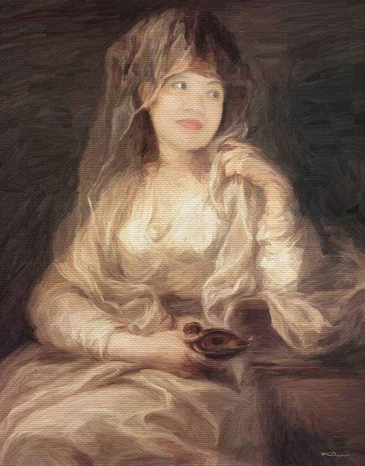 Name: Portrait of a Woman Author: Erik Teodoru ID number: 190 Year: 2017 Software Tool: ArtRage 4.5.10  Model: Shanjar Original Source Image: Angelica Kauffmann - Portrait of a Woman Dressed as Vestal Virgin