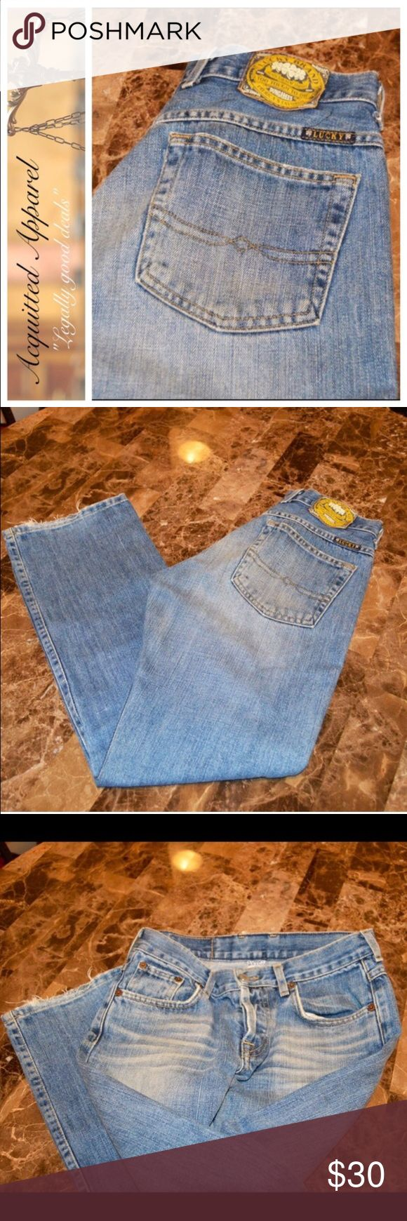 "Vintage Lucky Brand Button Fly Jeans 30"" inseam Lucky Brand Dungarees Size 0 / 25 Button Fly Approx 30"" Inseam. Lucky Brand Jeans Boot Cut"