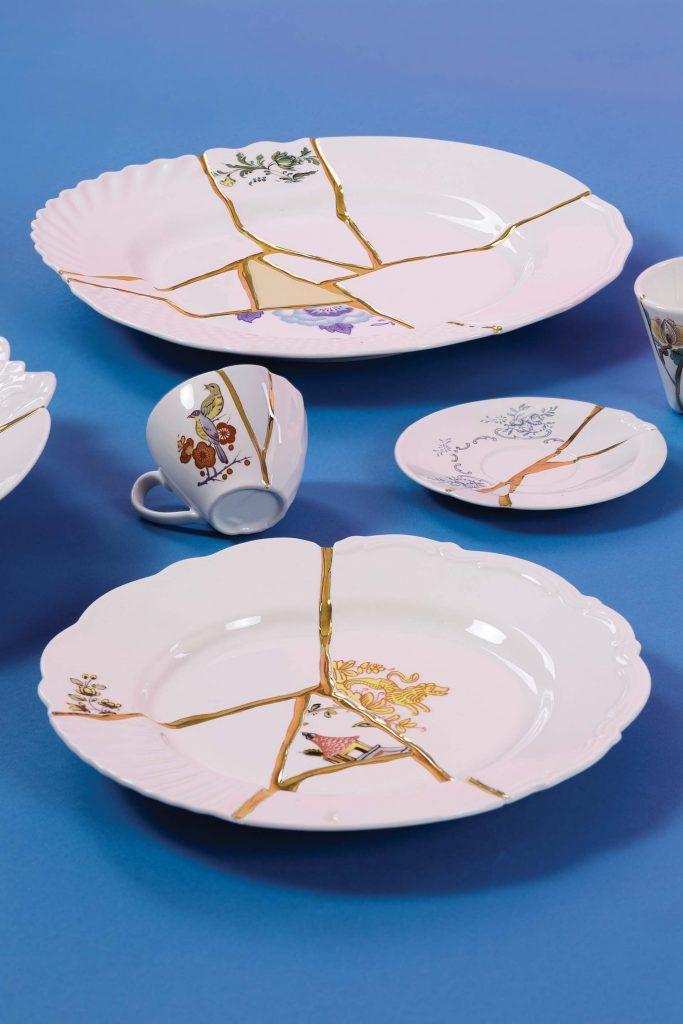 Qu Est Ce Que Le Kintsugi La Technique De Réparation Japonaise En 2020 Décoration De Maison Asiatique Plate Porcelaine Brisée