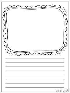 La classe de Madame Valérie: Modèles de feuilles pour l'écriture