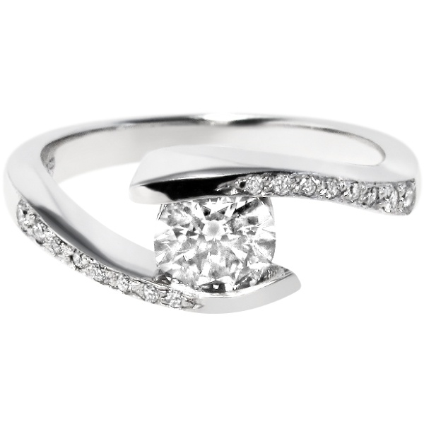 I Love The Bypass Or Tension Style That Makes Stone Look Wedding RingsWedding