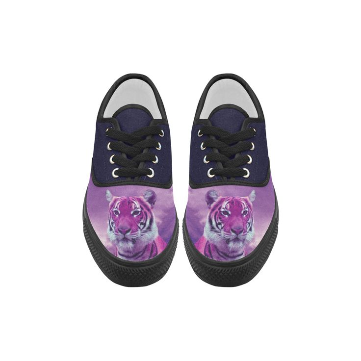 Purple Tiger Aries Canvas Platform Men Shoes
