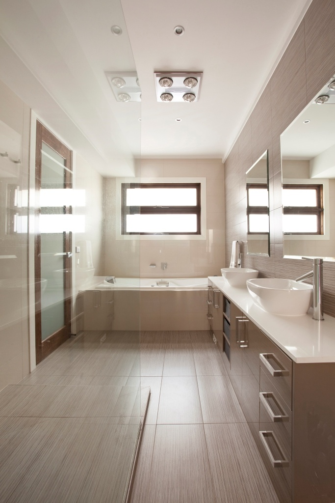 Modern Neutral Master Bathroom 2: Modern Neutral Bathroom.