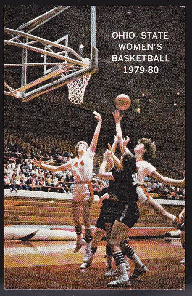 1979-80 OHIO STATE BUCKEYES WOMENS BASKETBALL POCKET SCHEDULE FREE SHIPPING #SCHEDULE