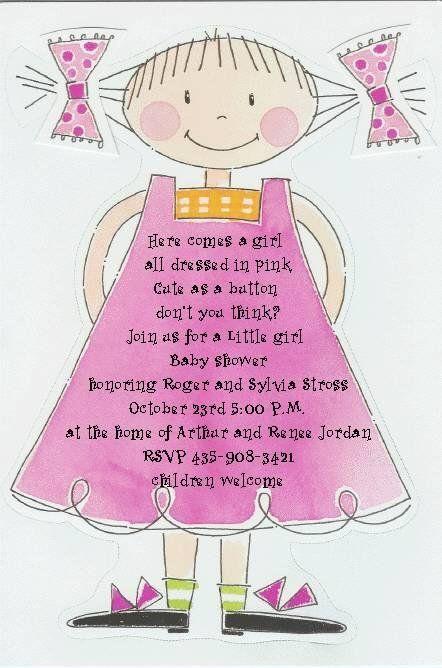15 best Baby Girl Shower Invitations images on Pinterest Baby girl