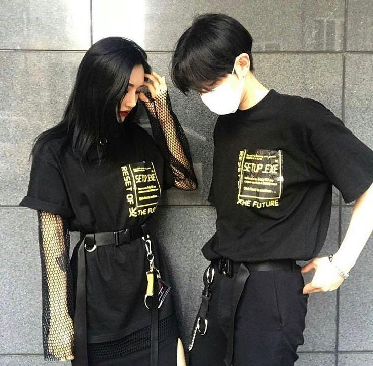 Ulzzang Couple  Casal Ulzzang, Roupas De Casal, Moda Casal-6641