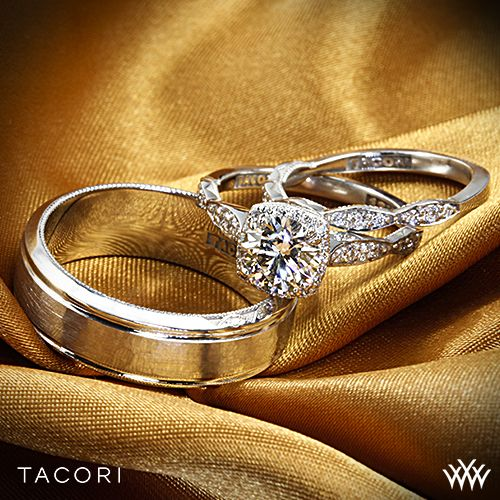 FAIRYTALE bride groom wedding set is brought you by #Tacori at Whiteflash.com