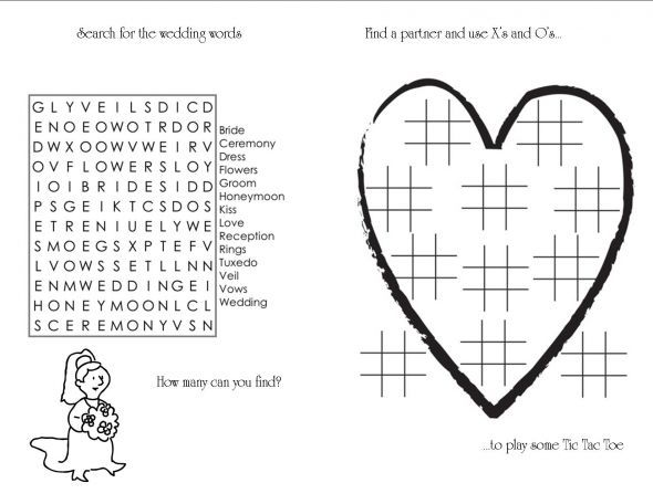 kids coloring and activity book weddingbee do it yourself - Wedding Coloring Books For Children