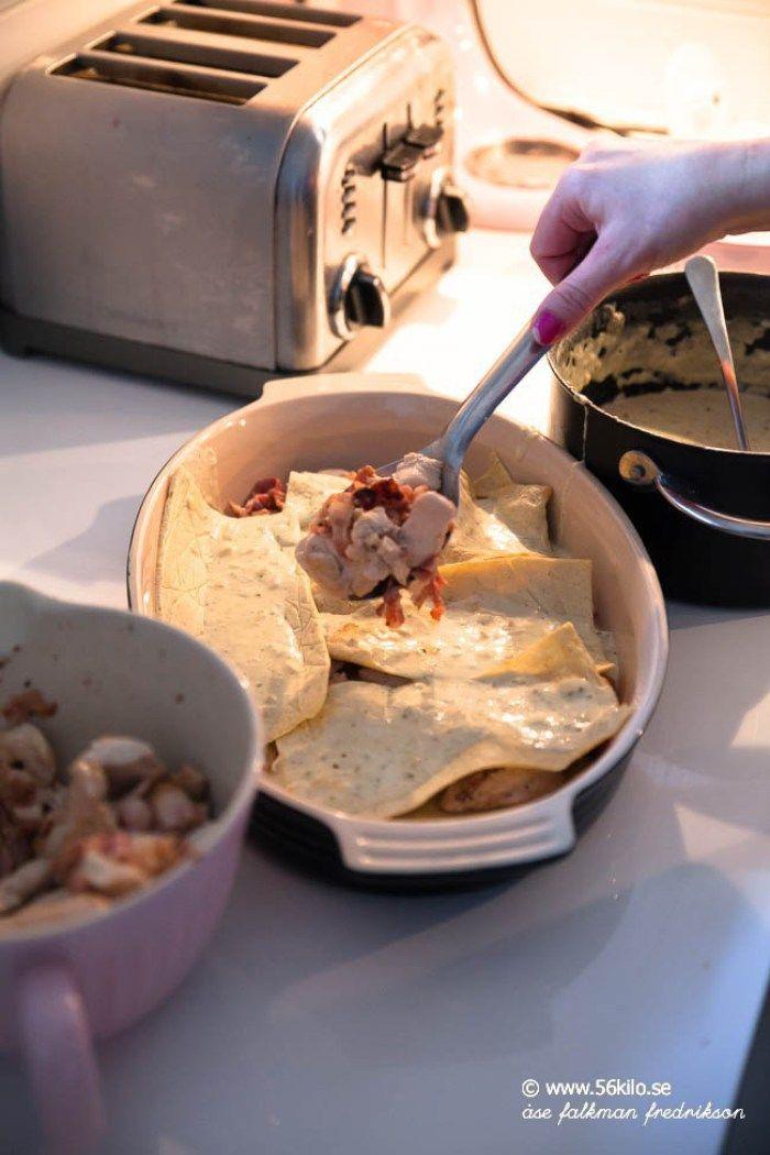 MAJ GADD så gott detta blev!!!!! Det är inte ofta vartenda barn i vår familj ger det fullpott, speciellt inte om det är stärkelsefritt ;) Men detta smaksakde alla gladeligen i sig!Receptet är min klassiska Chicken Alfredo men jag gjorde det som en lasagne istället! Omnomnom, detta provar ni hörni!   Relaterade