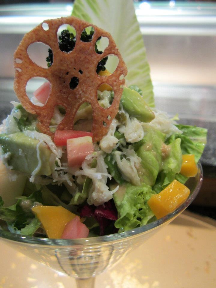 KAMEI KISS package!  Crab Salad, real crab mixed with avocado, mango, mayonnaise, and tobiko    www.vaneats.ca
