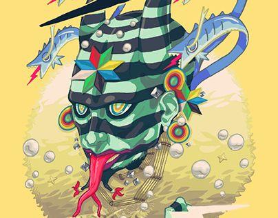 "Check out new work on my @Behance portfolio: ""Payaso Sagrado / Sacred Clown"" http://be.net/gallery/44202551/Payaso-Sagrado-Sacred-Clown"