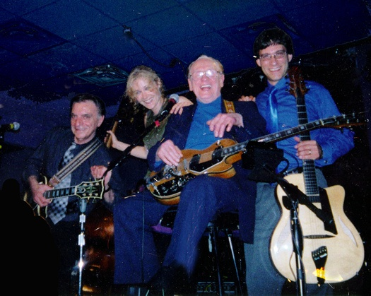 Lou Pallo, Nicki Parrott, Les Paul, and Frank Vignola