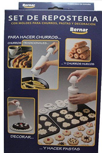 Enjoy freshly made churros at home with this easy to use, hand operated Churro Maker by Bernar. It comes with 10 nozzles for making churros including the popular hollow nozzle! As well as 3 nozzles for decorating. Includes instructions in Spanish & English as well as several recipes of... - http://kitchen-dining.bestselleroutlet.net/product-review-for-bernar-churrera-churro-maker-hand-operated-with-13-nozzles-including-hollow-nozzle-to-make-churros-at-home/