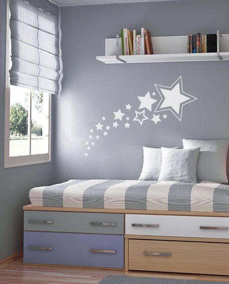 Shooting Stars Wall Decal Nursery Wall Decal by graphicalinteriors, $20.00