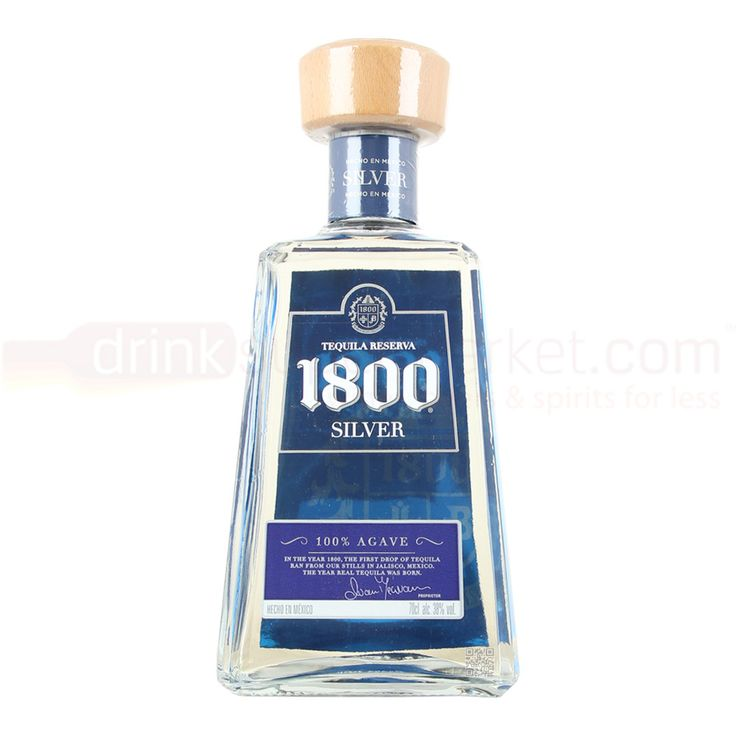 #1800 Tequila 1800 Blanco Silver Tequila 70cl 360715001 #1800 Silver Mexican Blanco Tequilla Is A Super Premium Tequila Made From 100% Blue Agave. It Has A Smooth And A Supple Entry With A Round Medium Bodied Palate With Sweet Prune And Roasted Pepper.The Colour Is Pale Yellow Diamond.
