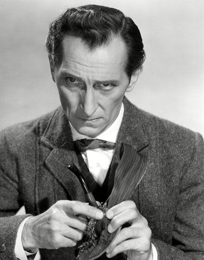 Peter Cushing in the 1959 version of 'The Hound of the Baskervilles'
