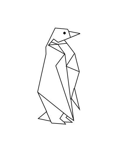 love this as a tattoo idea penguin pingouin geometric geometrique