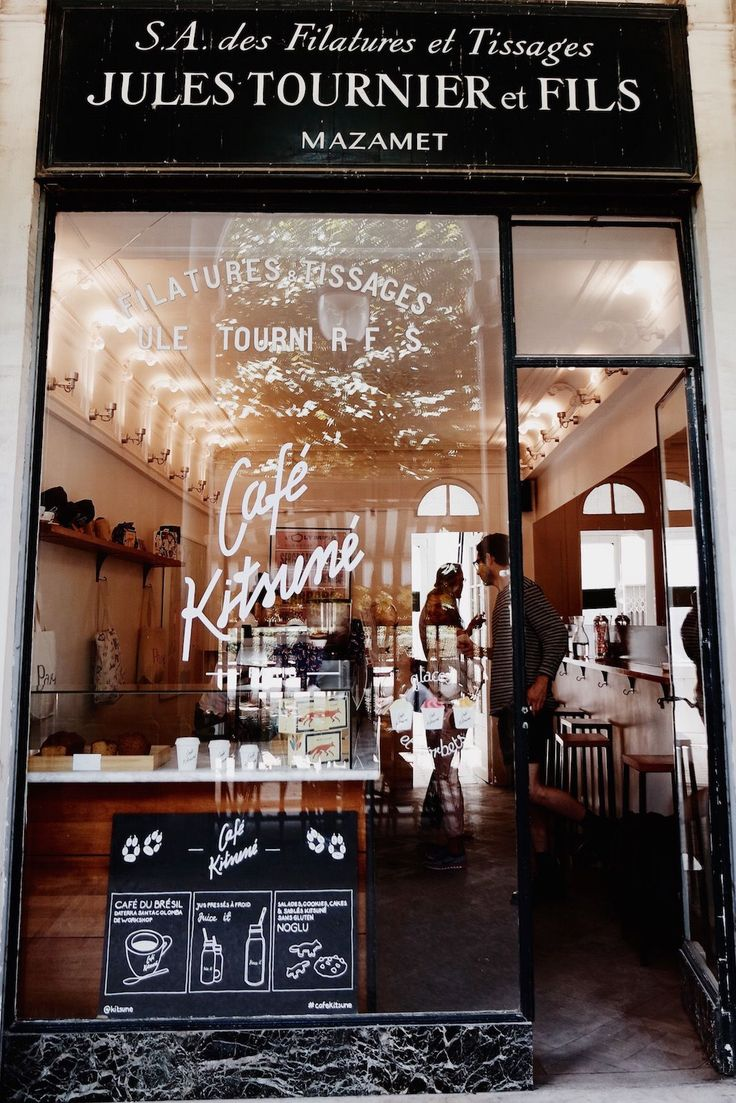 The Most Popular Coffee Shops In Paris, According To Instagram  #refinery29  http://www.refinery29.com/popular-french-coffee-shops#slide-5  3. Café Kitsuné Clothing? Check. Music? Check. Coffee? Check. Matcha? CHECK. If you were under the assumption that Kitsuné was just in the business of fashion, well, you'd be empirically incorrect. Part record label, part fashion label, Kistuné has been doing groovy things for our ears and our bods since 2002. In 2012, they added mouths to that list…