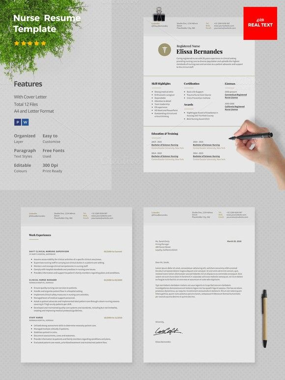 Nurse Resume Template   Page